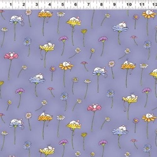 CLOTHWORKS - Daisy, Daisy by Anita Jeram - Dark Purple