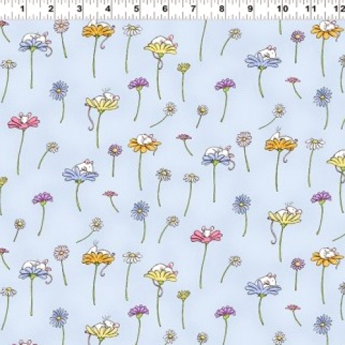 CLOTHWORKS - Daisy, Daisy by Anita Jeram - Light Blue