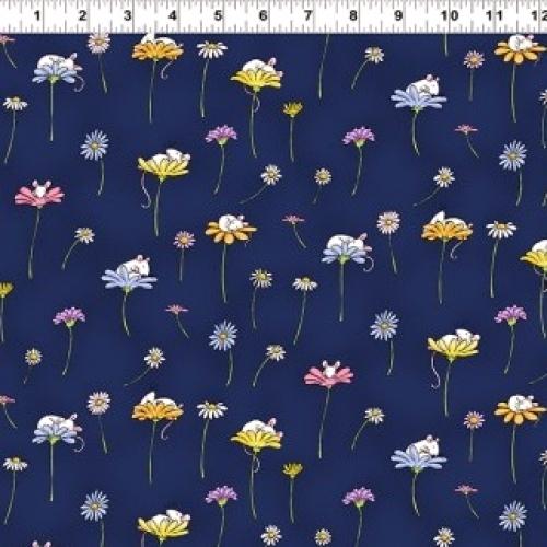 CLOTHWORKS - Daisy, Daisy by Anita Jeram - Dark Blue