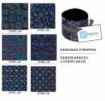 Quilting Treasures - Black Zanzibar Strippies 2.5 Inch Roll 12 pcs