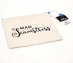 Mad Seamstress Small Canvas Zipper Bag by Riley Blake Designs
