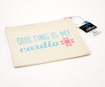 Quilting is my Cardio Small Canvas Zipper Bag by Riley Blake Designs