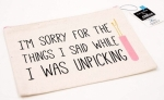 I'm sorry for the things I said...Large Canvas Zipper Bag by Riley Blake Designs