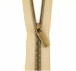 Zipper - Zippers By The Yard Beige Tape Antique Teeth #5