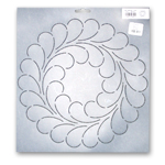 Feather Circle 10.5 inch Stencil  342QC
