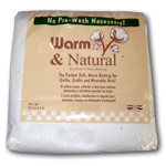Warm & Natural Quilt Batting - King Size