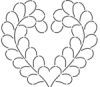 Feather Heart 9 inch Stencil  SCL-049-09