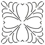 Small Design 6 inch Stencil  549QC